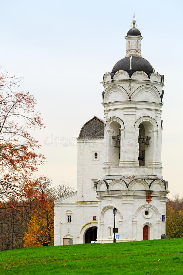 The Church-belfry of St. George in the park Kolomenskoye. Moscow, Russia. stock photos