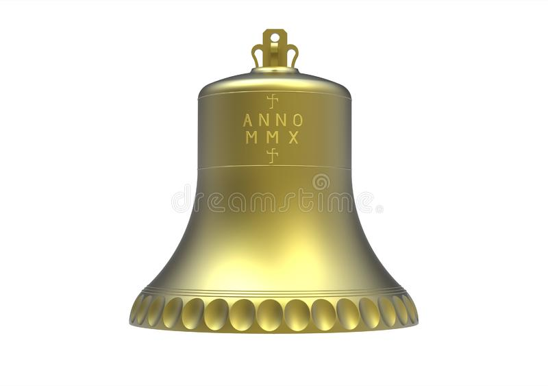 Download Church Bell With Inscription Stock Illustration - Illustration of message, isolated: 14739800