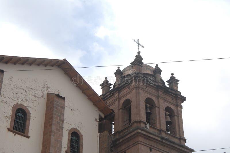 Church in Cusco, Peru. Church bell tower in historic Cusco, Peru royalty free stock image