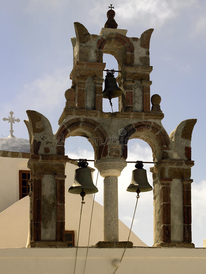 Church Bells - Island of Santorini - Greece stock photos
