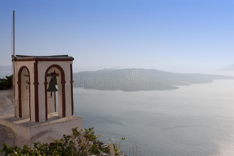 Download Church bells on Santorini stock image. Image of house - 21469187