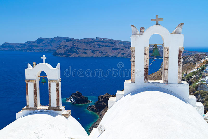 Download Church Bells On Santorini Stock Photo - Image: 26285490