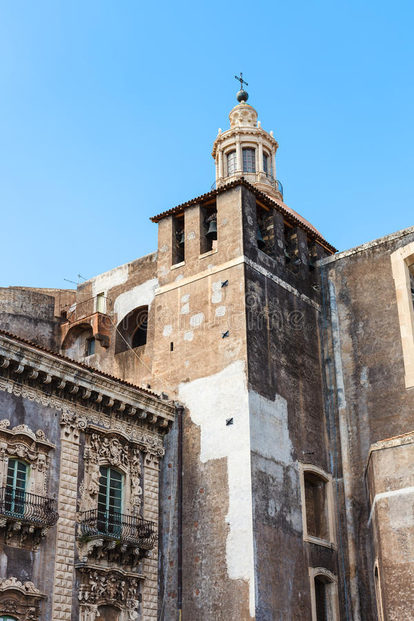 Church of Benedictine Monastery in Catania, Sicily stock image
