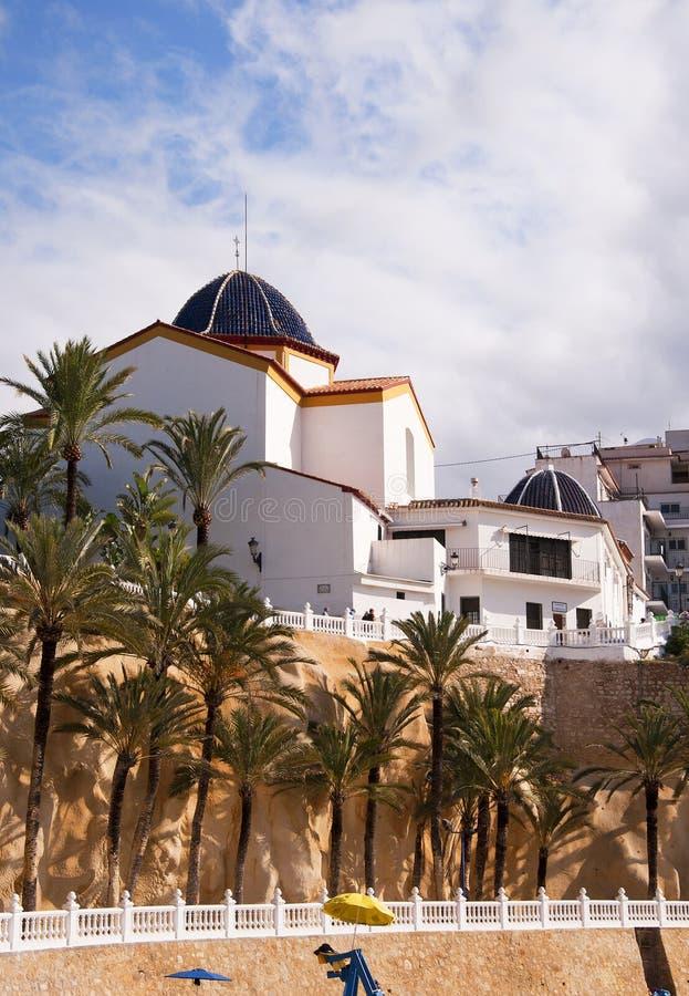Church in Benidorm. Church in the Castillo Area of the old town of Benidorm Costa Blanca Spain stock image