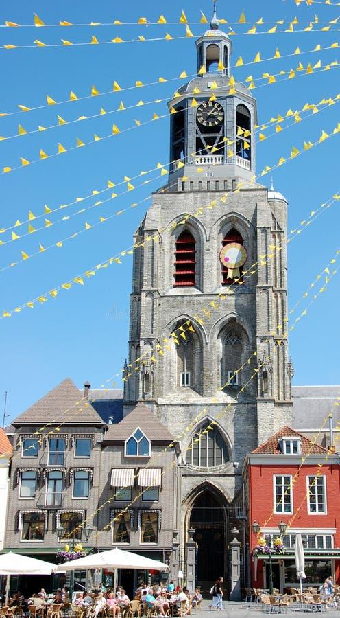 Church in Bergen op Zoom stock photo