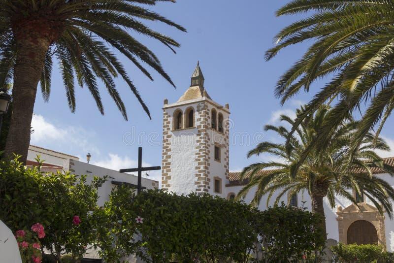 Church of betancuria Fuerteventura stock photography