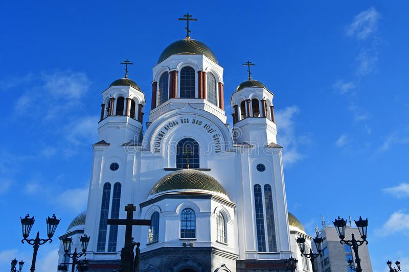 Church on Blood in Honour of All Saints Resplendent in the Russian Land. — place of execution of Emperor Nicholas II and his family. Yekaterinburg stock images
