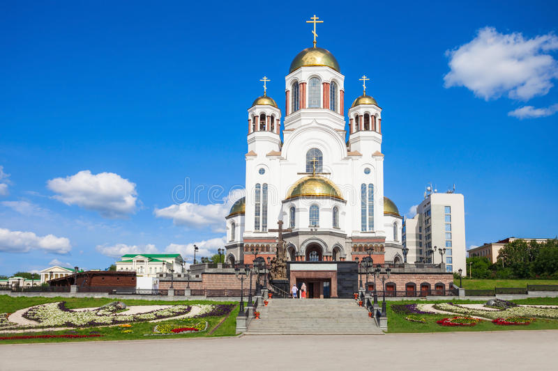 Church on Blood in Honour. The Church on Blood in Honour of All Saints Resplendent in the Russian Land is a Russian Orthodox church in Yekaterinburg, Russia royalty free stock images