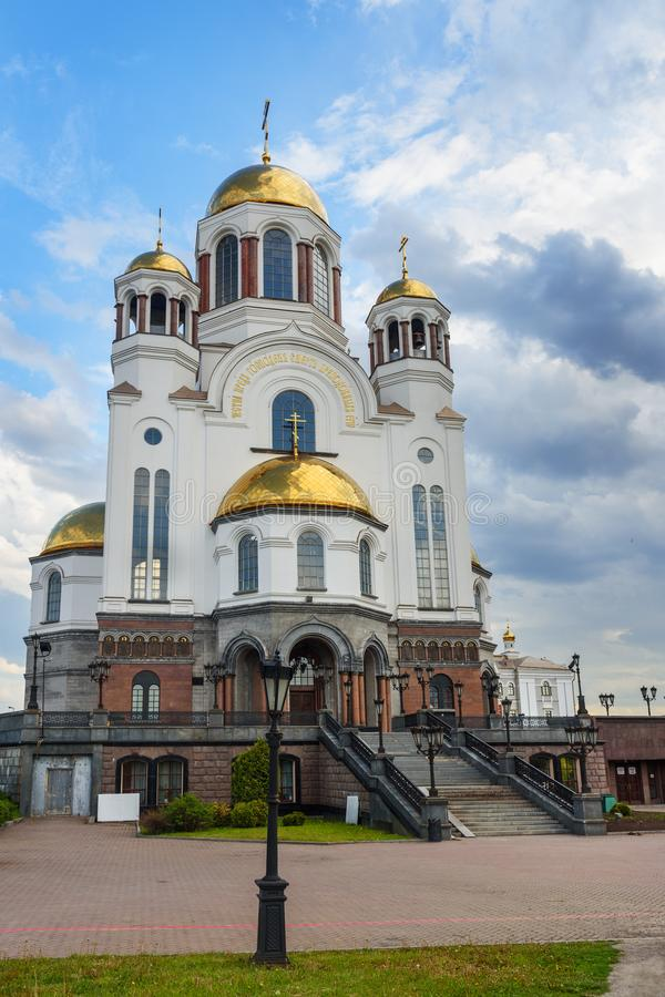 Church on Blood in Honour in Yekaterinburg. Russia. Church on Blood in Honour of All Saints in Yekaterinburg. Russia royalty free stock photography