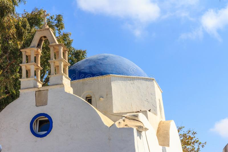 Church with blue dome royalty free stock photography