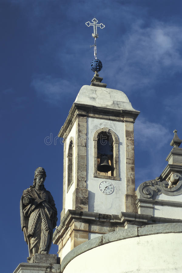 The church of Bom Jesus do Matozinhos in Congonhas, state of Min. As Gerais, Brazil. A masterpiece of the Minas Baroque architecture, it is surrounded by soap royalty free stock photos