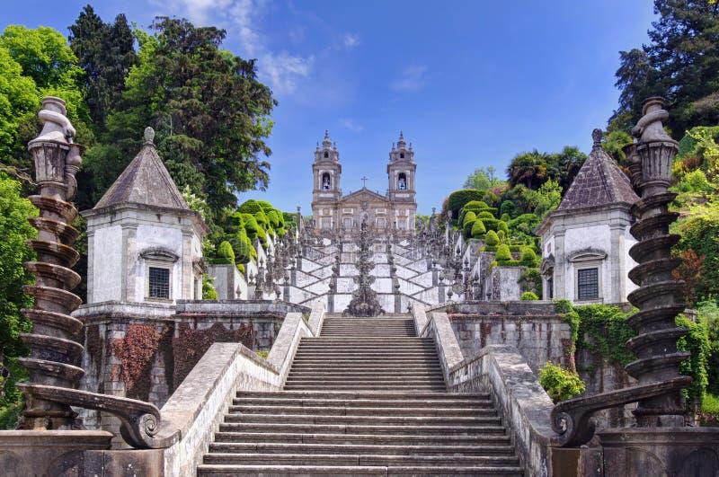 Church of Bom Jesus do Monte in Braga, Portugal. Stairway to the church of Bom Jesus do Monte in Braga, Portugal stock photos