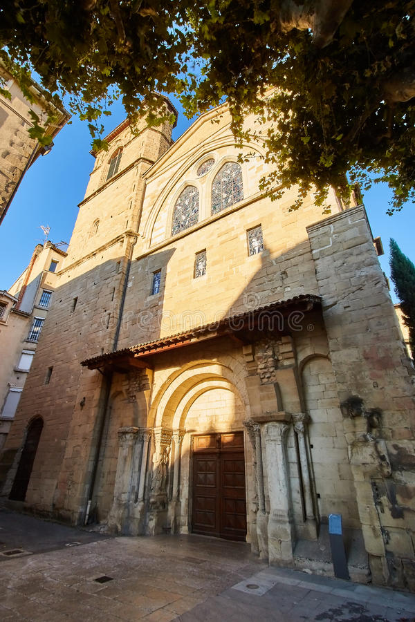 Church of Bourg de Peage, France. Bourg de Peage is a commune in the Drome department and in the Auvergne Rhone Alpes region in southeastern France royalty free stock image