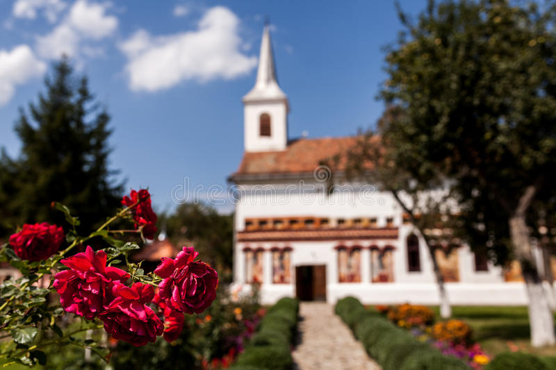 Church Brancoveanu Detail. Also called Brancoveanu Upper Church, the church is located on Mihai viteazul street in Ocna Sibiu and is dedicated to St. Archangels royalty free stock photography