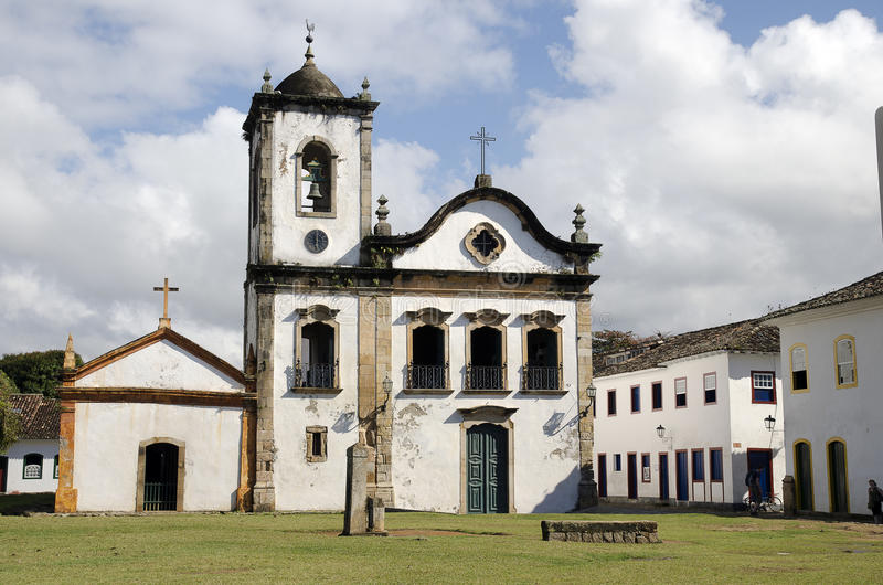 Church. Brazil. Typical church in Parati. Brazil royalty free stock images