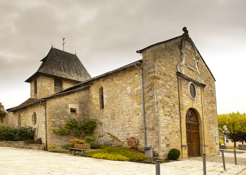 Church of Bretenoux France royalty free stock image