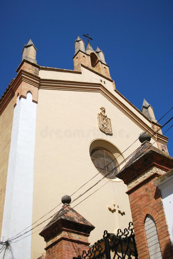 Church building located in the Joaquin Peinado museum, Ronda, Spain. Church building located in the Joaquin Peinado museum museo de Joaquin Peinado in the Plaza stock photo
