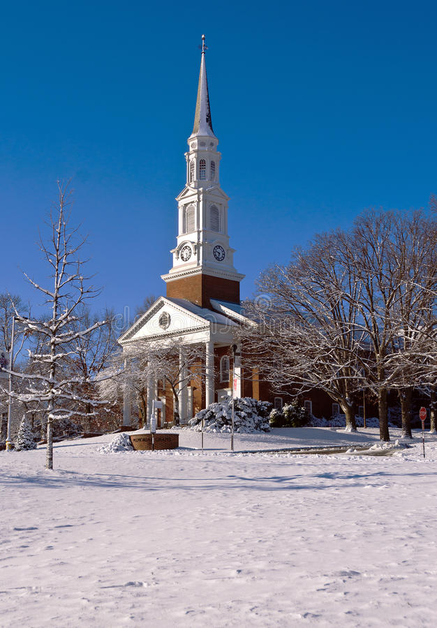 Free Church Building On A Snowy Morning Royalty Free Stock Photography - 36677137