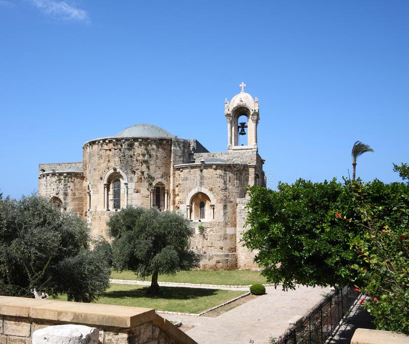 Download Church (Byblos, Lebanon) stock image. Image of attraction - 13985733