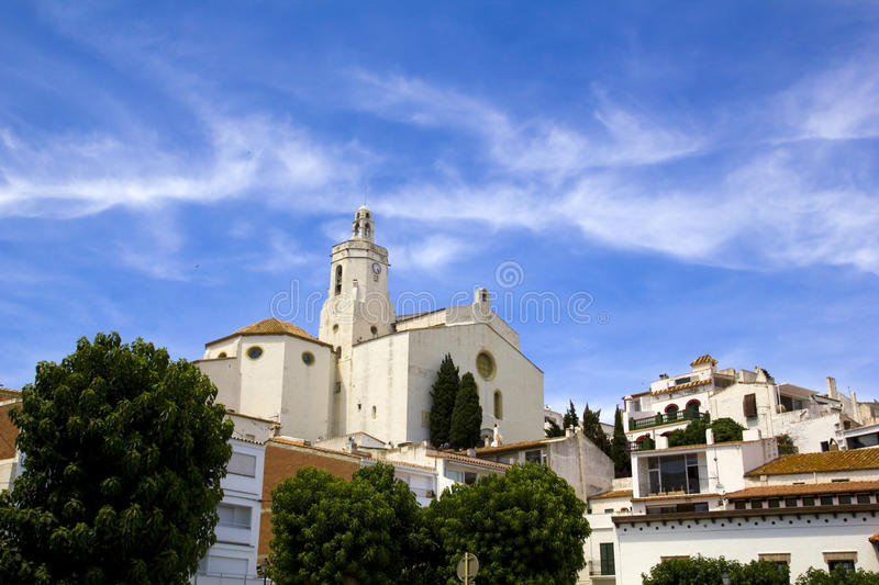 Church of Cadaques. Costa Brava royalty free stock photography