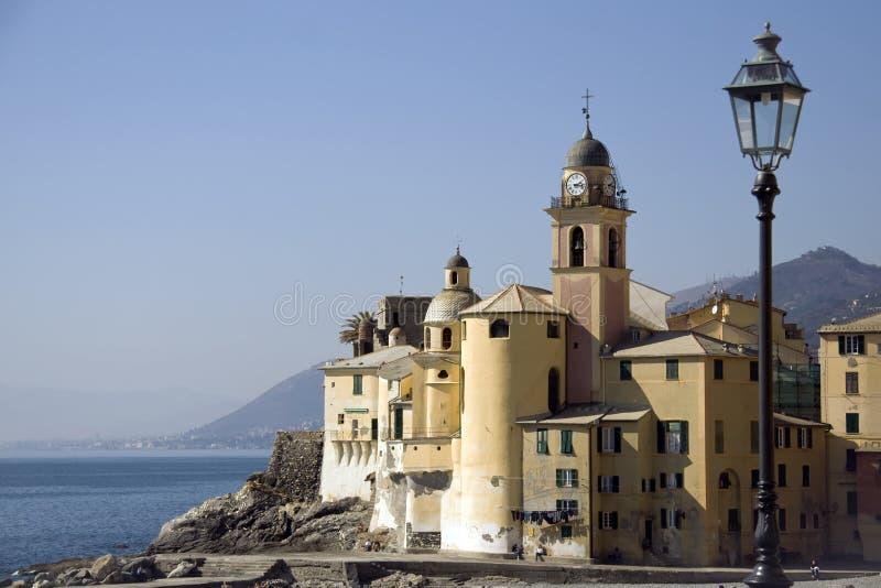 Download Church of camogli stock image. Image of water, genoa - 23830413