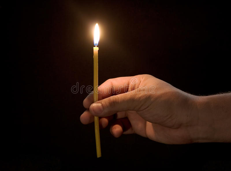 Church candle stock photography
