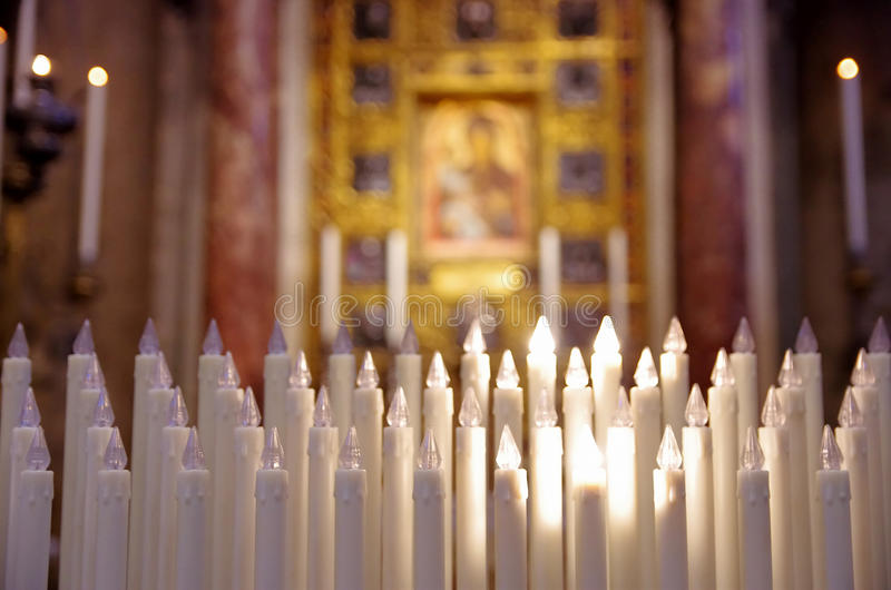 Church Candles royalty free stock photos