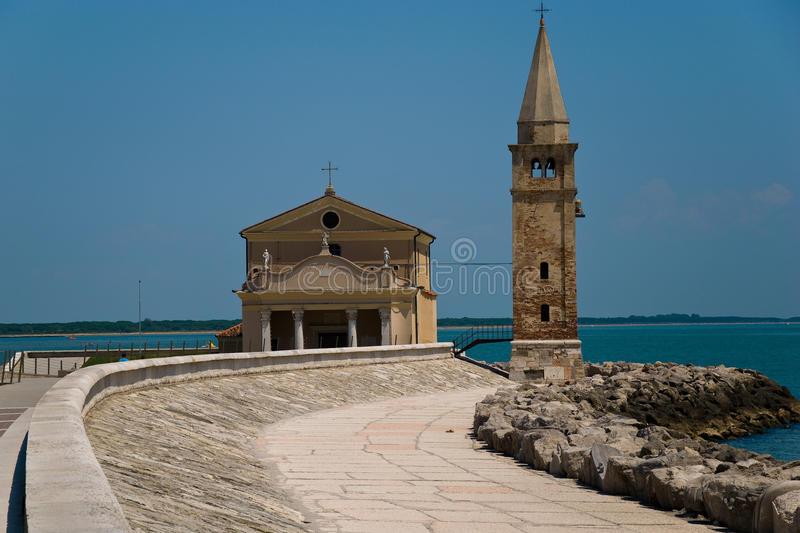 Church in Caorle stock photography
