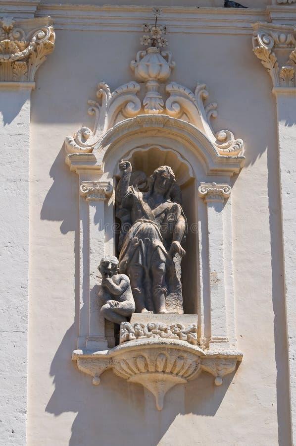 Church of Carmine. San Severo. Puglia. Italy. Closeup of the Church of Carmine. San Severo. Puglia. Italy royalty free stock image