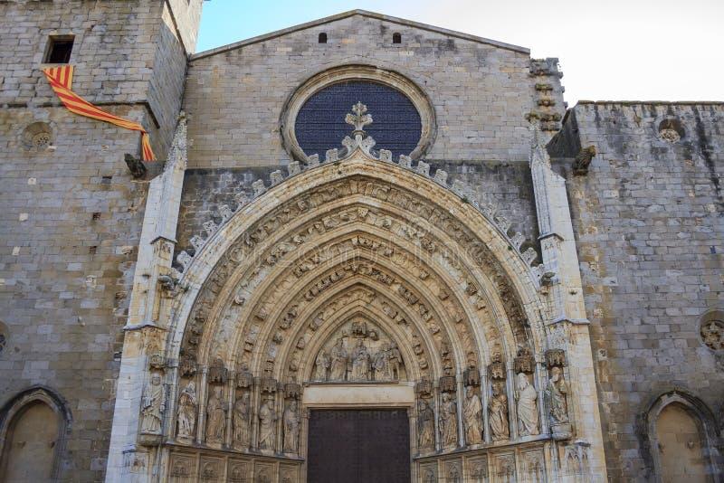 Church of Castellon de Ampurias.Catalonia. royalty free stock photos