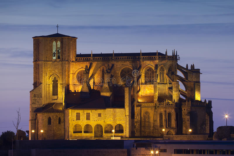 Church of Castro Urdiales. Cantabria, Spain stock images
