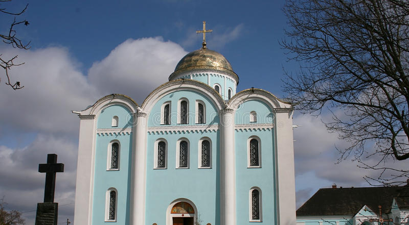 Church. Cathedral of the Assumption in Volodymyr-Volynskyi, Ukraine stock photo
