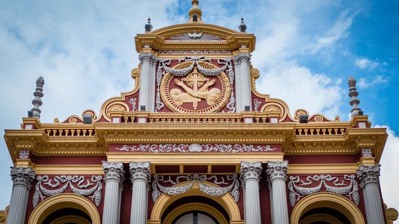 Church Cathedral in Salta Argentina. Very much one of the main tourist attractions and points of interest in the area royalty free stock photo
