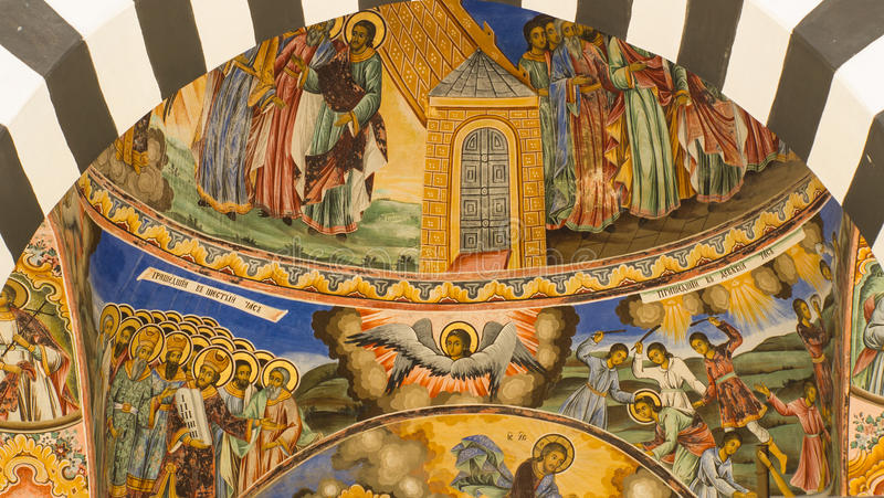 Church ceiling stock photography