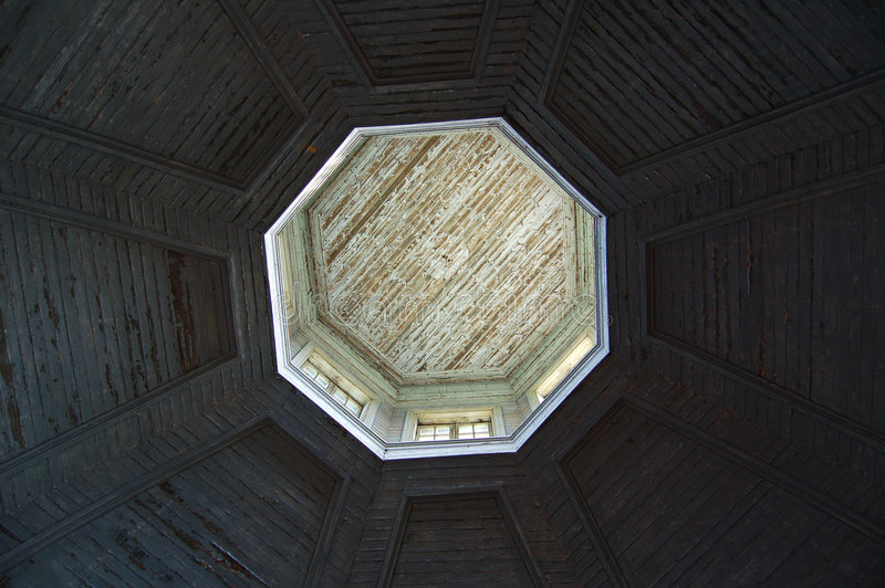 Church ceiling dome royalty free stock photo