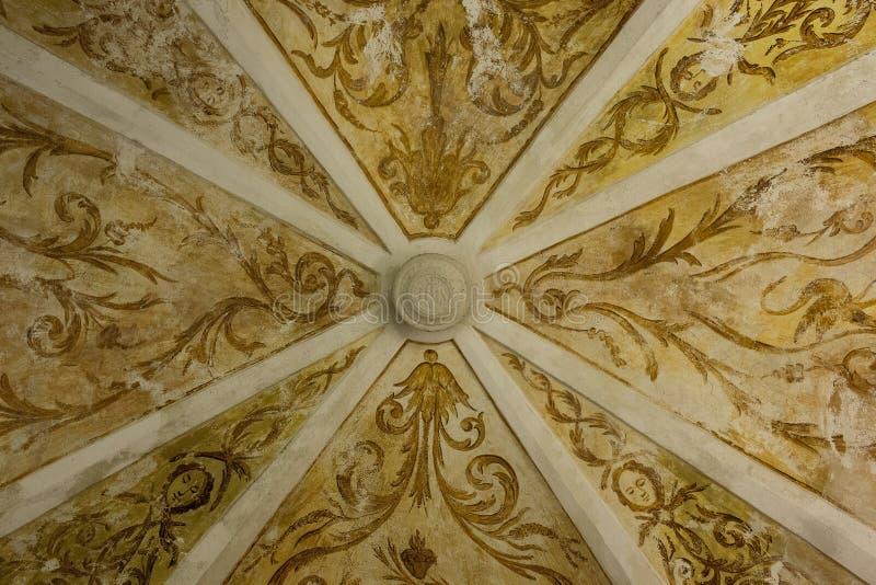 Church ceiling fresco royalty free stock photo