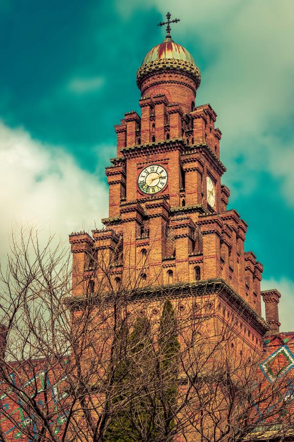 Chernivtsi University church. Church in Chernivtsi National University, Chernivtsi, Ukraine stock photo