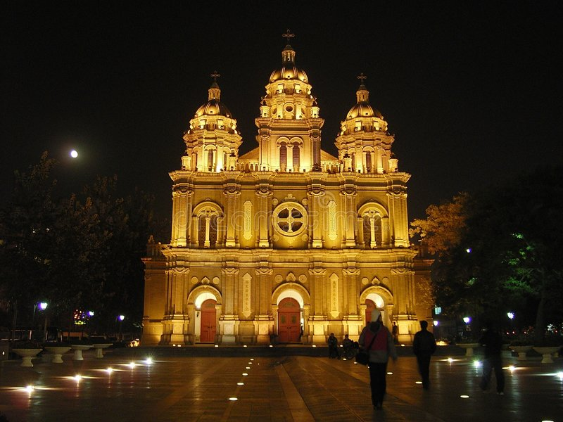 Church in china stock photo