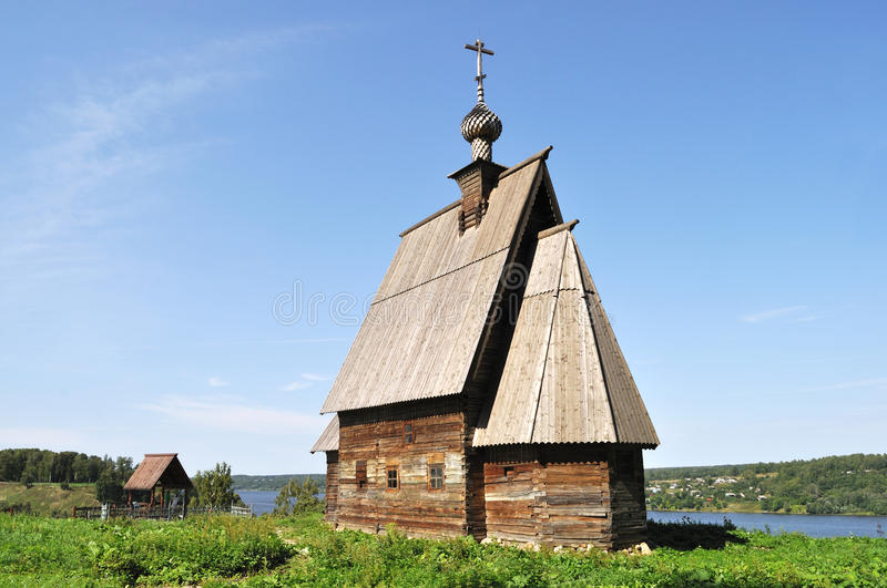 Church of Christ Resurrection in Ples, Russia stock images