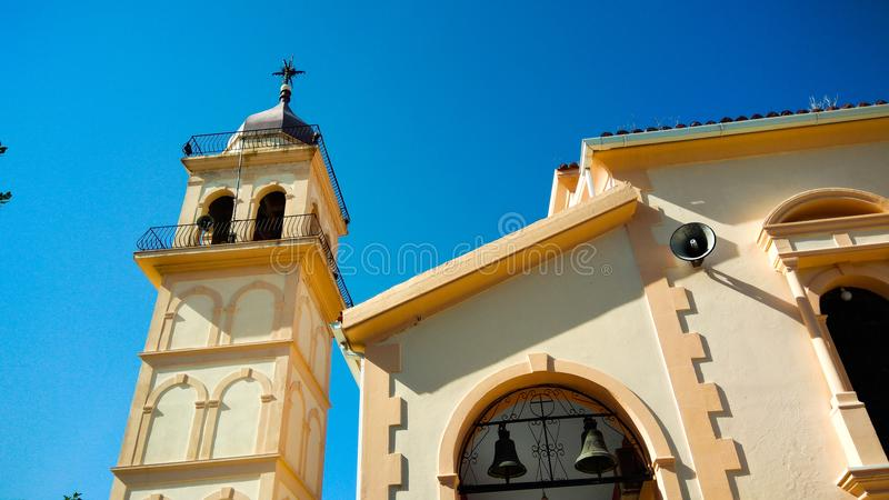 Church and church tower royalty free stock photography