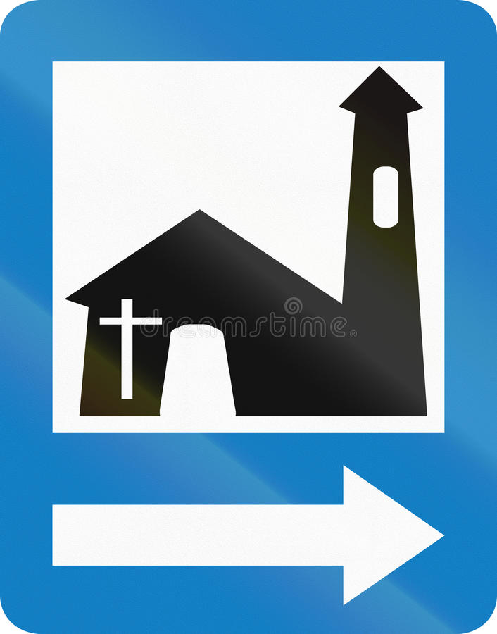 Church in Colombia stock illustration