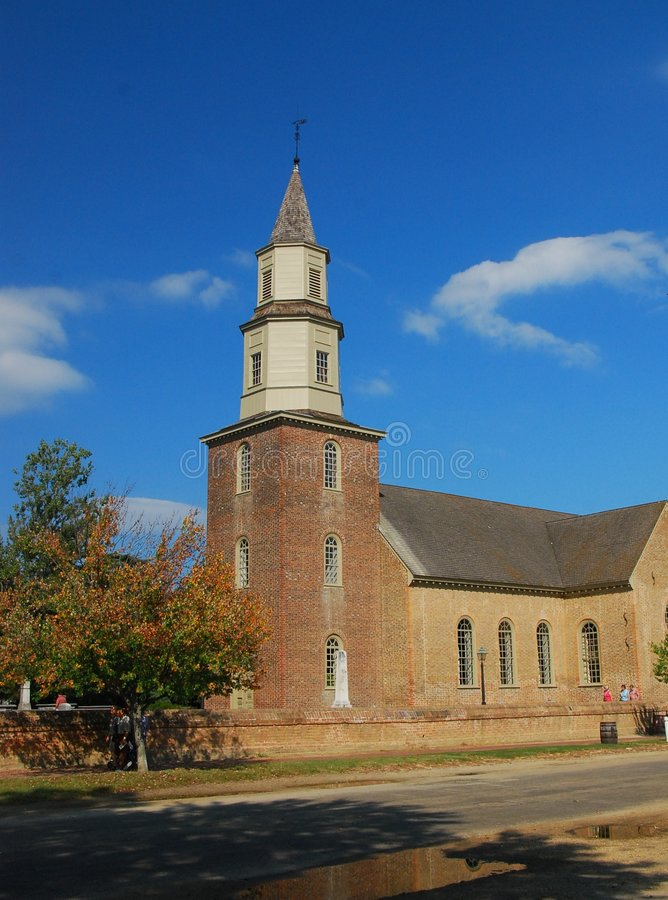 Download Church, Colonial Williamsburg Stock Photo - Image: 3377754