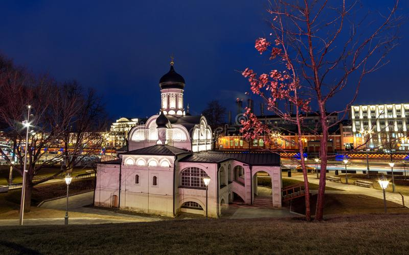 Church conception of St. Anne`s Night View royalty free stock images