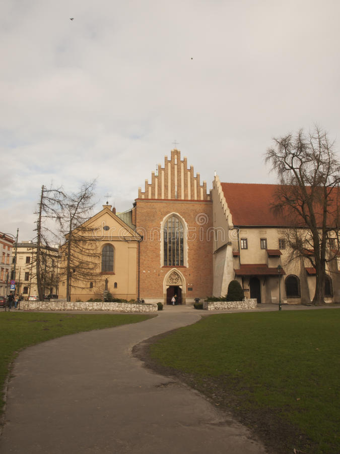 Church and convent of the Franciscan Order in Krakow. In Poland royalty free stock photos