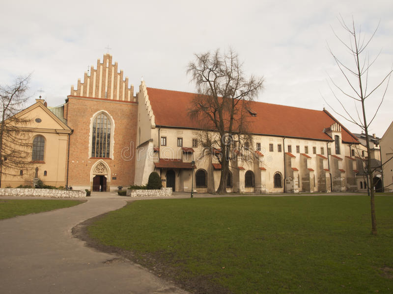 Church and convent of the Franciscan Order in Krakow. In Poland royalty free stock image