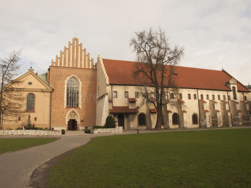 Church and convent of the Franciscan Order in Krakow. In Poland stock images