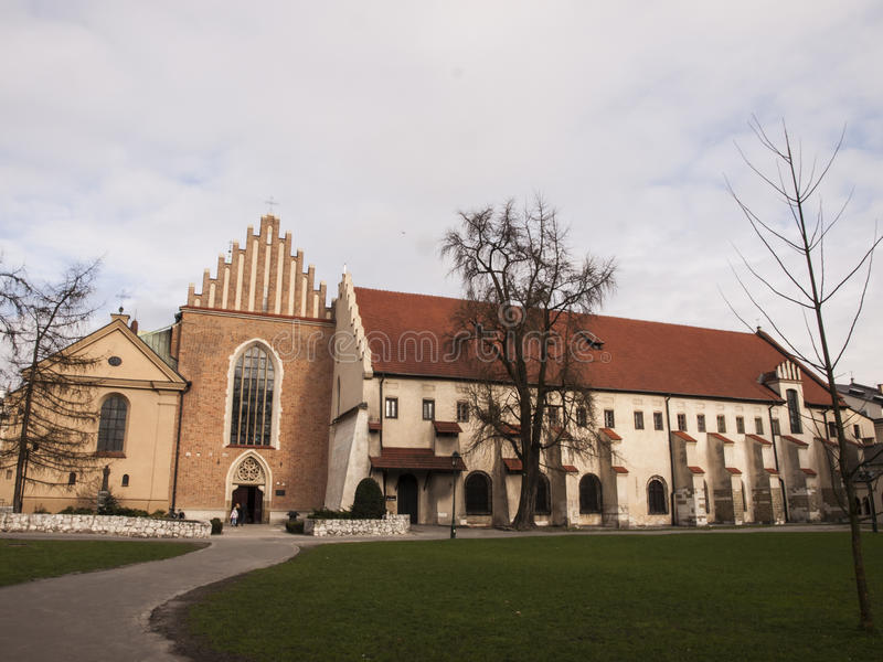 Church and convent of the Franciscan Order in Krakow. In Poland royalty free stock photo