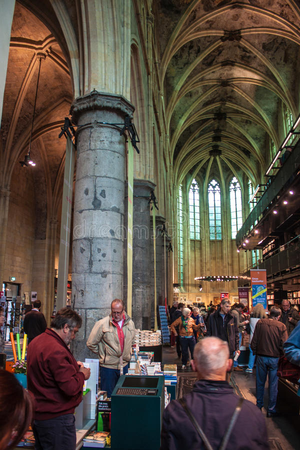 Church converted into a bookstore. MAASTRICHT, JUN 1: Dominican church converted into a bookstore in Maastricht, Netherlands on Jun 1, 2013. In 2008 The Guardian royalty free stock images