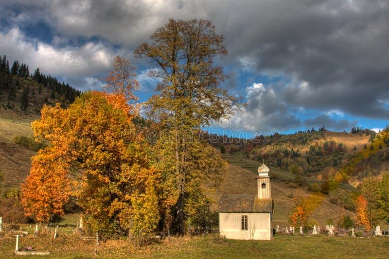 Church in Corbu stock photography