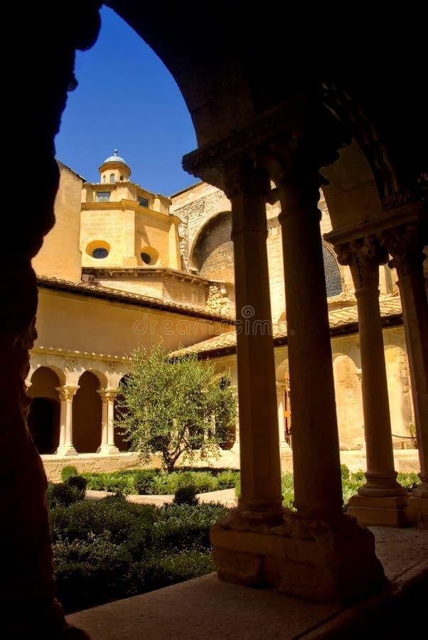 Church courtyard stock photos